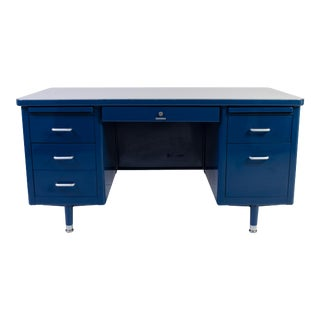 Steelcase Tanker Desk in Marine Blue, Edited by Montage