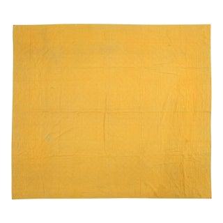 Handmade Yellow Quilt