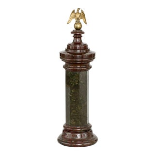 Italian Grand Tour Marble Column, Circa 1880