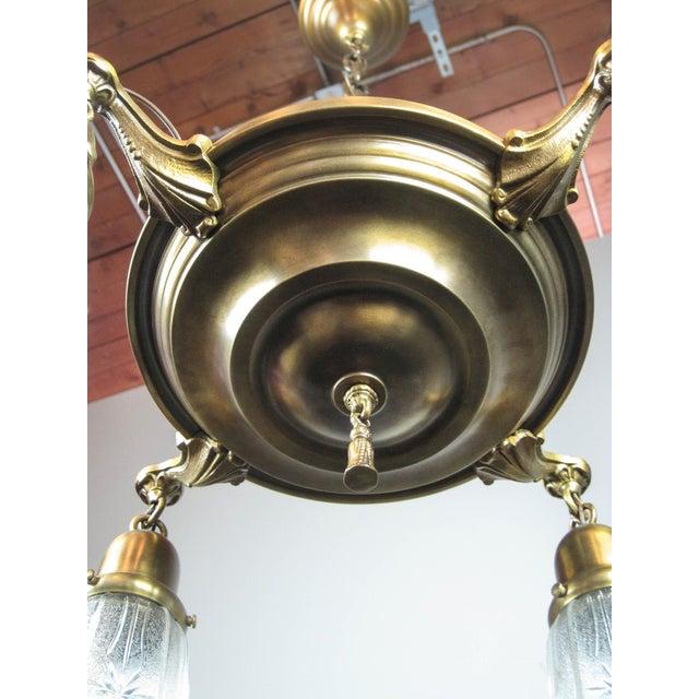 Original Pan Light Fixture (4-Light) - Image 5 of 8