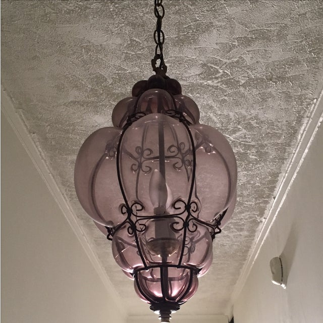 Moroccan Glass Chandelier - Image 4 of 4
