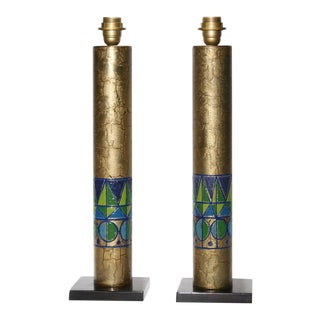 Italian Copper Table Lamps - A Pair