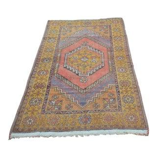Vintage Turkish Oushak Carpet - 3′8″ × 6′3″