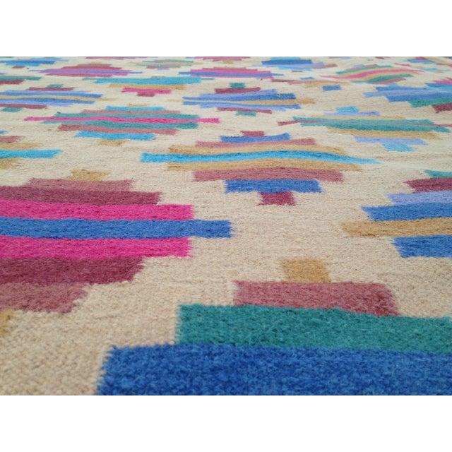 Flat Woven Wool Kilim Rug- 6' x 9' - Image 4 of 10