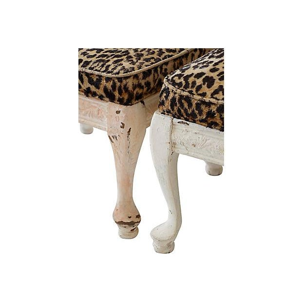 Leopard Print Footstools - A Pair - Image 5 of 5