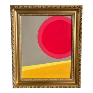 """Sun Meets The Desert"" Abstract Modern Painting"