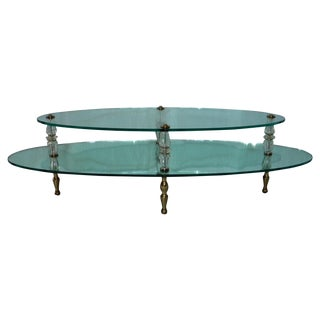 Hollywood Regency 2-Tier Coffee Table