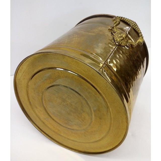 Brass Lion Head Handle Planter - Image 7 of 9