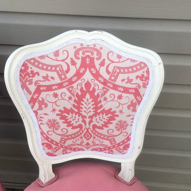 Vintage French Style Side Chairs - Set of 4 - Image 6 of 11