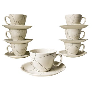 Mid-Century Modern Cups & Saucers - 7