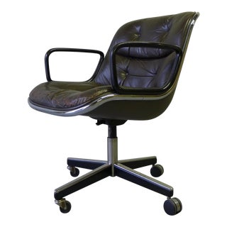 Mid-Century Modern Leather Knoll Office Chair