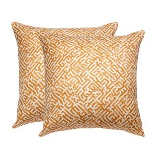 Zak + Fox Linen Print Pillow Covers - a Pair