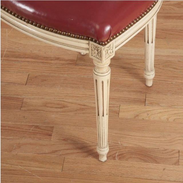 Louis XVI Painted Dining Chairs - Set of 6 - Image 4 of 5