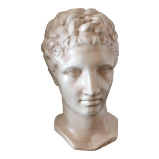 Vintage Roman Head on Wood Stand