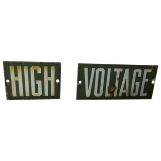 High Voltage Repurposed Industrial Sign
