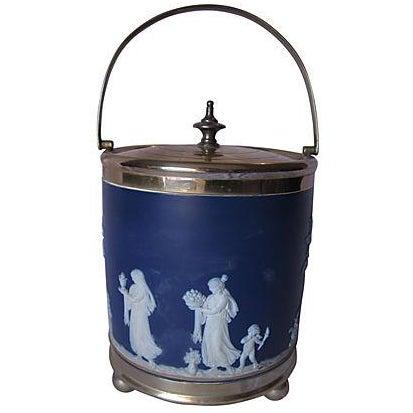 Image of Antique Wedgwood Blue Jasper Dip Glaze Ice Bucket