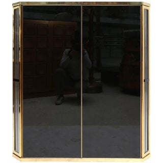 Black Glass and Brass Cabinet