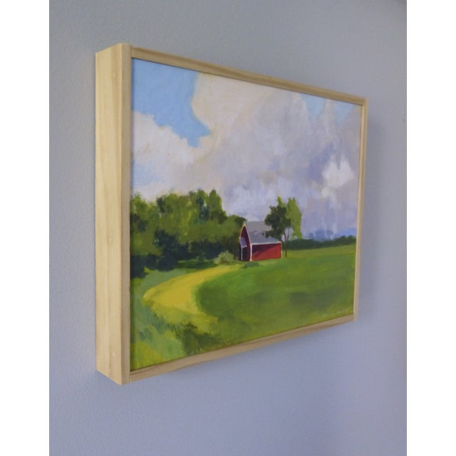 Original Painting - Red House in Vermont - Image 4 of 5
