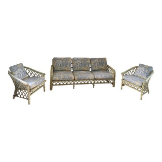 Ficks Reed Rattan Sofa & Chairs