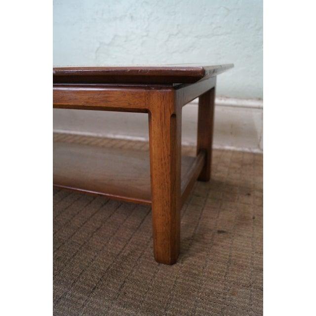 Mid Century Modern Long Walnut Coffee Table - Image 6 of 10