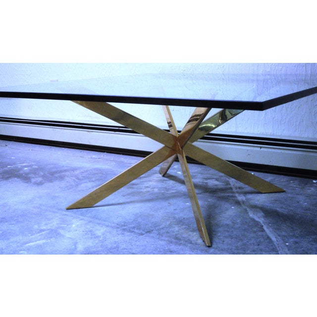Pace Collection Double X Coffee Table Base - Image 7 of 11