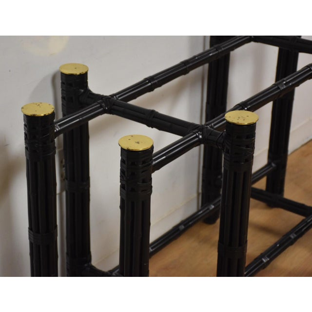 McGuire Black Bamboo Dining Table Base - Image 4 of 11