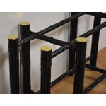 Image of McGuire Black Bamboo Dining Table Base