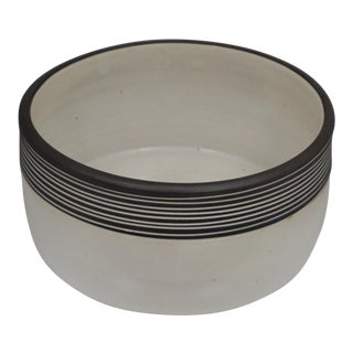 MM Pottery Brown Striped Ceramic Pottery