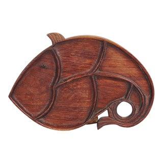 Vintage Piscean Wood Tray