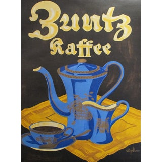 Original 1927 German Coffee Lithographic Poster