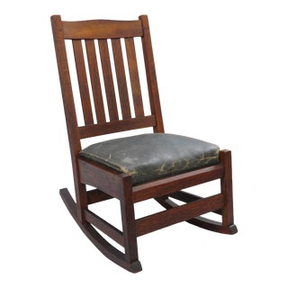 L. & J.G. Stickley, Inc. Mission Oak Youth Nursing Rocking Chair