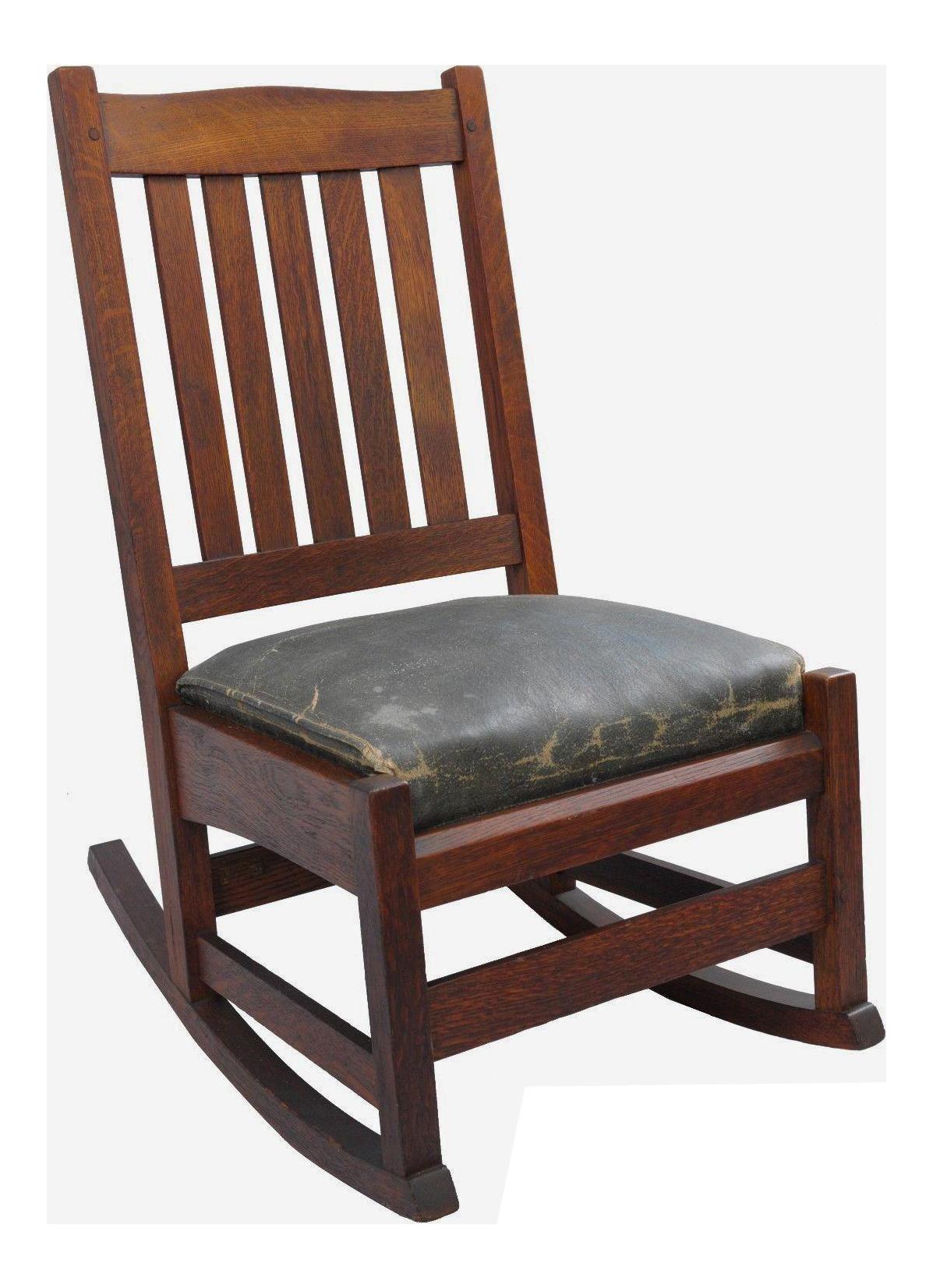 L. U0026 J.G. Stickley, Inc. Mission Oak Youth Nursing Rocking Chair