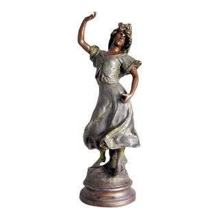 1890s Art Nouveau Carmen Statue by Luca Madrassi