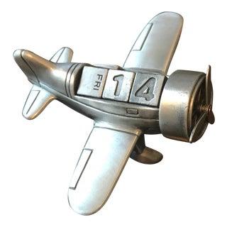 Vintage Air Plane Perpetual Calendar