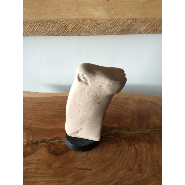Mid-Century Carved Stone Sculpture - Image 2 of 7