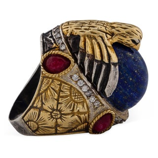 Turkish Lapis Eagle Ring - Size 8