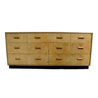 Henredon Scene Two Burl Olive 7 Drawer Dresser