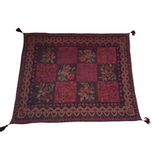 Indian Patchwork Chenille Throw