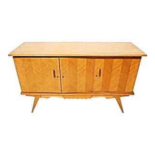 Mid-Century Modern Blonde Wood Credenz