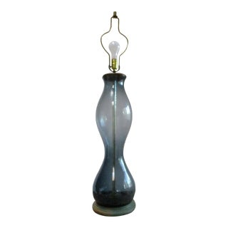 Hand Blown Art Glass Blenko Style Wave Lamp