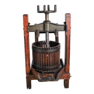 Huge Cast-Iron Antique Wine Grape Press