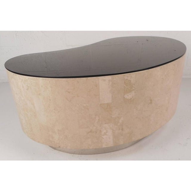Mid-Century Modern Kidney Shaped Coffee Table By Maitland