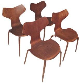 Arne Jacobsen Grand Prix Chairs - Set of 4