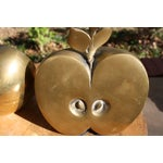 Image of Mid-Century Brass Apple Bookends- A Pair