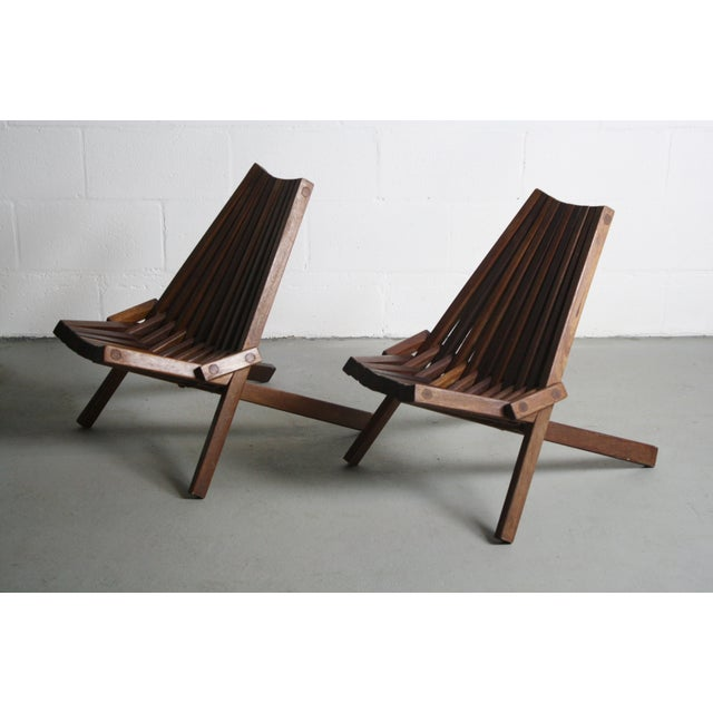 Image of Danish Modern Small Folding Chairs - Pair