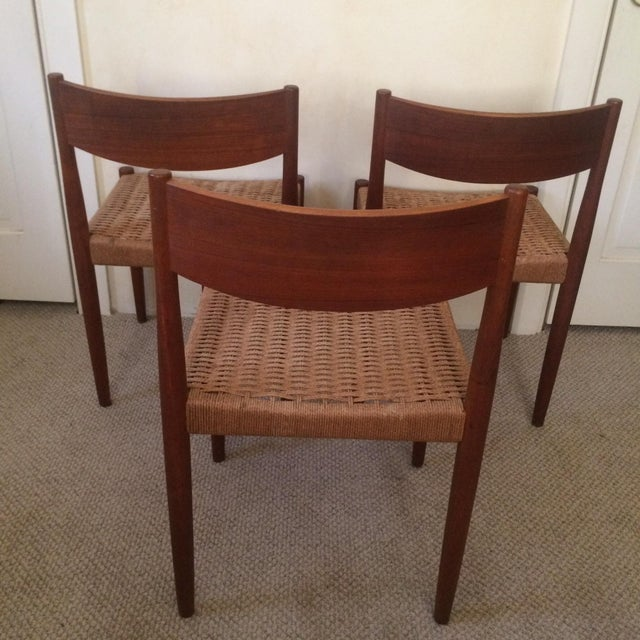 Danish Modern Dining Chairs - Set of 3 - Image 4 of 7