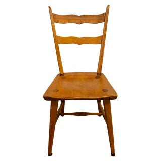 Mid Century Cushman Birch Solid Wood Chair