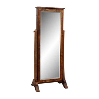 Handmade Pine Cheval Jewelry Cabinet Mirror