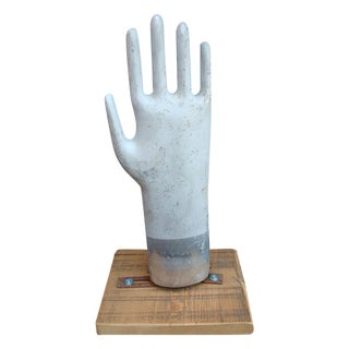Vintage Galvanized Glove Mold