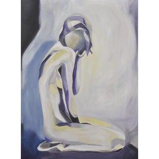 """Purple and Yellow Nude"" Acrylic Painting"